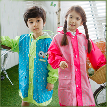 Cute Plastic Rainwear Raincoat For Children Girl Kids Rainwear Waterproof Impermeable Poncho Infantil Raincoat Rain Gear QQG208