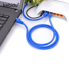 Kebidu Ethernet network Cable 65FT RJ45 For CAT5E Durable Internet Patch LAN Cable Cord Blue 5M 10M For Laptop Computer(China)