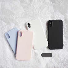 Buy Simple Frosted Matte TPU Case iphone X 6 6s 6plus 7 7Plus 8 8Plus Scrub soft TPU case back cover Protective shell for $2.99 in AliExpress store