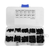 240pcs/set DIN916 Hex Screw Assortment Kit with Plastic Box Alloy Steel Screw Tool for M3*3/4/6 M4*4/6 M5*5/8 M6*6/10 M8*8(China)