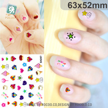 SH201-224 Auto Adhesive Nail Foil Sticker Art Harajuku Little Element Nail Wraps Sticker Manicure Decor Decals Diamonds Star