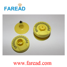x100pcs Low frequency animal RFID ear tag, Sheep cow pig for animal identification visual tag FDX-B and HDX