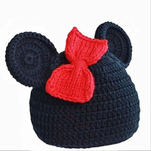 Mickey Mouse Cap baby girl winter hats Children's hats spring girls aderecos fotografia de recem-nascidos toucas de inverno kids