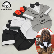 Buy Dog Gentle Dress Wedding Suit Bow Tie Small Medium Dog Clothes Costume Spring Jacket Pet Shirt Clothing Puppy Cat DC443 for $4.99 in AliExpress store