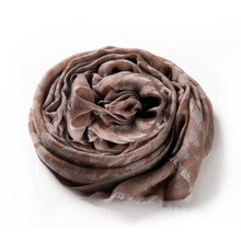 100%Cashmere Scarf Women Coffee Leopard Pashmina Ring Yarn Extra Thin Natural Fabric Extra Soft&Warm High Quality Free Shipping