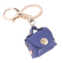 1 Pcs Lovely Women Leather Handbag Keychain Accessories Charming Purse KeyRing Pendant Jewelry