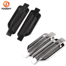 POSSBAY Auto Car Air Intake Flow Vent Fender Decorative Stickers Side Mesh Cover Hood Bonnet ABS Car Styling Automobiles Parts(China)