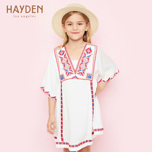 HAYDEN girls party dress summer white sundress flower costume 9 11 13 years teenage girls clothing children kids frock clothes