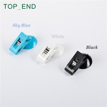 1 Pair,Free Shipping,Clip with Suction Cup,Card Clamp,3 Colors: Sky Blue,White,Black,Ideal For Car,Kitchen,Office,Hotel