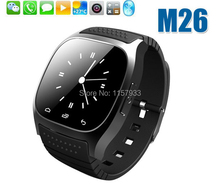 Hot Wholesale sport Smart Bluetooth Watch digital luxury M26 wristwatch men women with Dial Pedometer for Android Samsung phone(China)