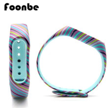 Mi Band 2 Colorful Stripe Replace Strap Xiaomi Silicone Wristbands MiBand - foonbe Official Store store