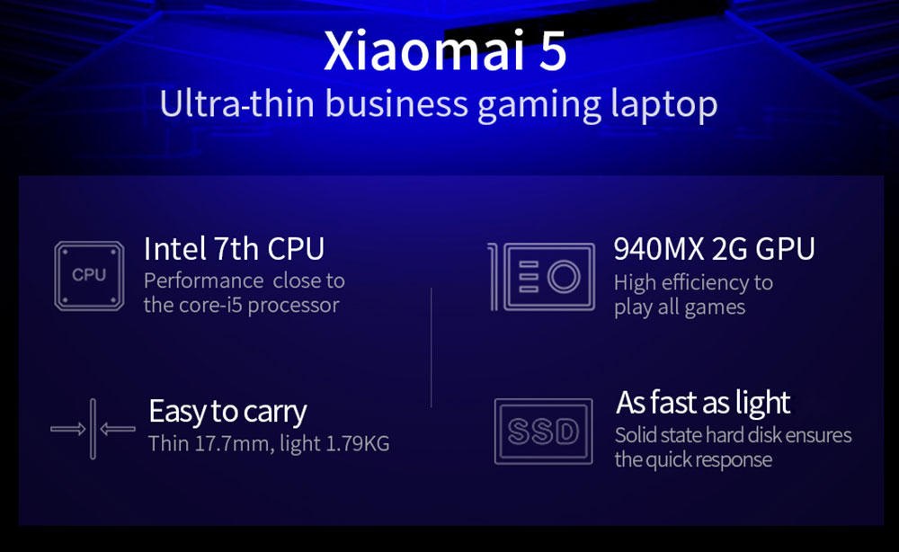 Mai Benben Xiaomai 5 Gaming Laptop 15.6 inch Windows 10 Intel 4415U Dual Core 2.3GHz 4GB RAM 128GB SSD HDMI BT 4.0 3950mAh Built-in