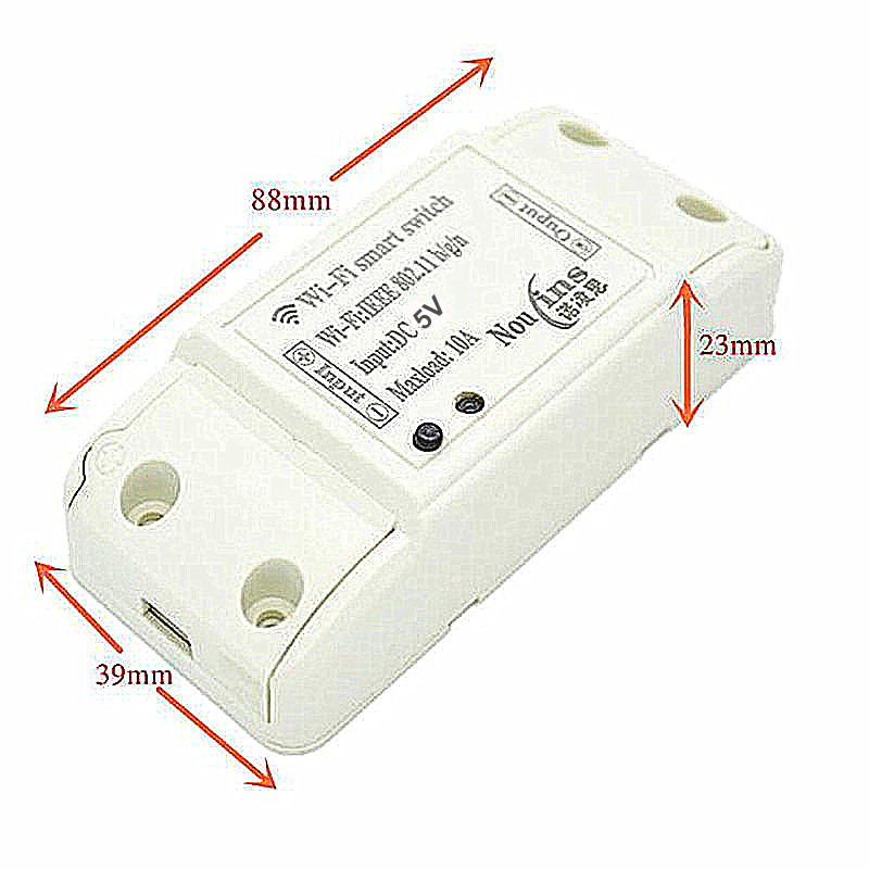 1CH 5V DC Smart Wireless WiFi Light Switch wi-fi Module Controlled by Phone On Android and IOS for Home Automation Garage Door