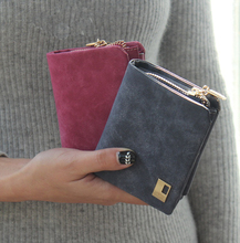 Short Clutch Change Coin Cards Bag Women Purse Ladies Handbag Old Design Wallet Free shipping(China)