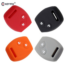 KEYYOU Sport Style Silicon 2 Buttons Key Case Covers Shell For Honda CR-V Civic Fit Freed StepWGN Key Free Shipping(China)