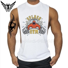 Muscleguys Brand Weight lifting fish design Gyms Clothing Mens Bodybuilding Stringer Tank Tops For boy Fitness Vest