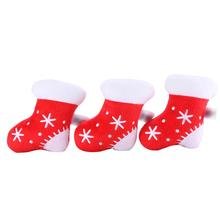 Discount! Christmas Socks Stuffed Plush Toy Creaking Horn Pet Chew Squeaker Squeaky Toys Cachorro Dog Toys Pet Supplies