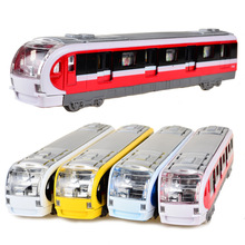 BOHS Electronic Musical And Light Metro Subway Train Pullback Model Diecast Toy Vehicle Models