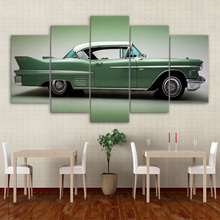 Canvas Pictures Home Decor Framework Prints Living Room Poster 5 Pieces Vintage Classic Green Convertible Car Paintings Wall Art