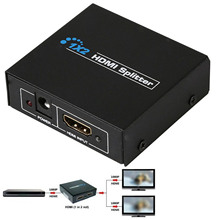 Besegad 1x2 HDMI Switch Splitter Box 1 Input 2 Output Ports Support 3D Full HD 1080P for Ps3 Xbox360 DVD Black EU Plug