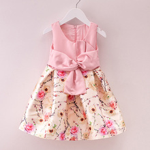 2016 New Children Formal Dress Little Girl Party Dress Spring Summer Kids Clothes Princess Holiday Floral Girls Easter Dresses(China)