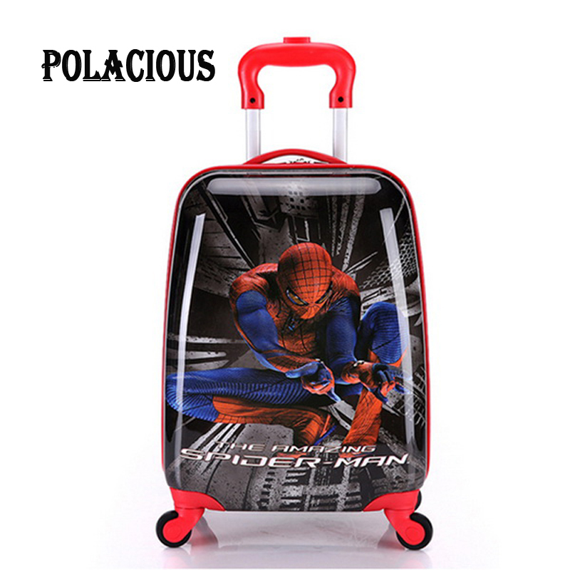 18inch 2016 NEW Cartoon boy Children Suitcase,Child Boy Girl Princess Cat  ABS trolley case  Traveller Pull Rod Trunk<br><br>Aliexpress