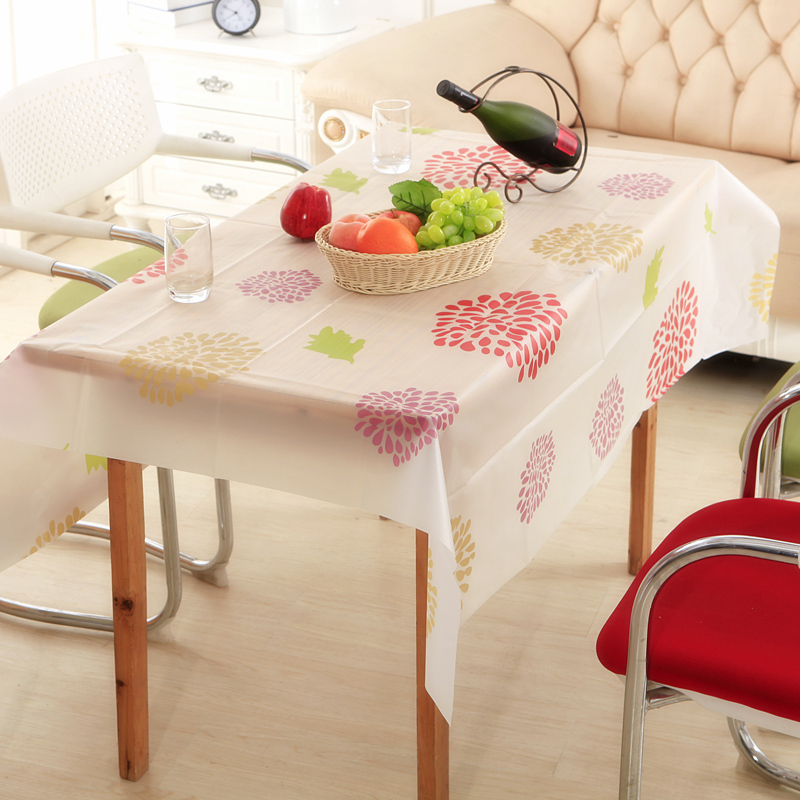 130140cm vinyl rectangle tablecloths table cloths mats covers kitchen dining bar accessories supplies - Kitchen Table Covers Vinyl