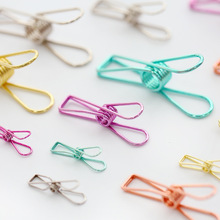 3 Size 5 Colors Korean Stationery Hollow Out Binder Clips Paper Clips Notes Letter Notebook Clips DIY Bookmark material escolar(China)