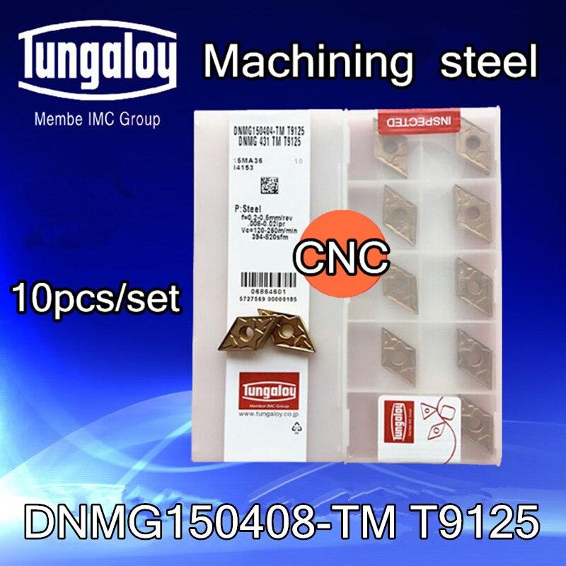 10Pcs TUNGALOY DNMG150404-TM T9125  DNMG431-TM T9125  carbide inserts
