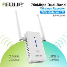 wifi repeater 5ghz EDUP high quality 750mbps wireless repeater router wifi siginal entender antenna double 2dbi 802.11ac