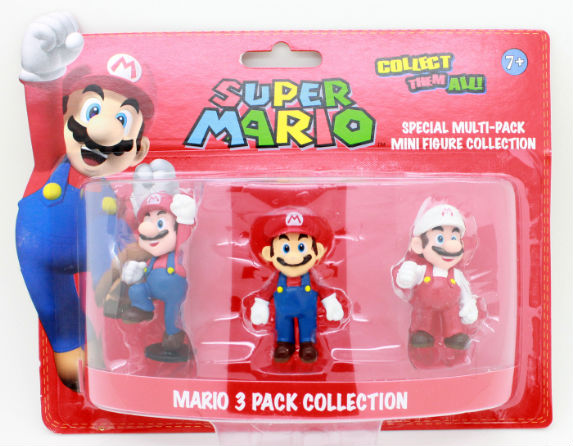 Super Mario Bros Action Figure Toys Mario Figurine Model 3pcs in pack Collection 2.5inches Blister<br><br>Aliexpress