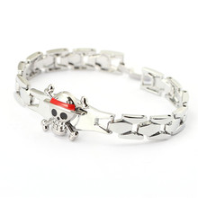 J Store Souvenir 2017 Hot One Piece Anime Bracelet Unisex Cosplay Bangle Cute For Fan Steel Alloy Hand Chain Bangle