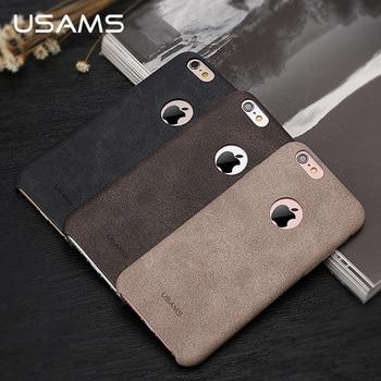 USAMS De Luxe En Cuir Case Pour iPhone 6 s Case 4.7 pouce Téléphone Case pour iPhone 6 s Couverture Arrière Coque Capa Téléphone Sacs et cas