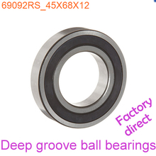 45mm Diameter Deep groove ball bearings 6909 2RS 45mmX68mmX12mm Double rubber sealing cover ABEC-1 CNC,Motors,Machinery,AUTO