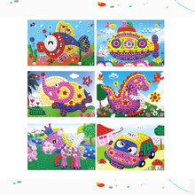 Kids Children Kindergarten 3D Puzzles DIY Crafts Toys -10PCS Crystal EVA Foam Mosaic Sticker Painting Hot sale(China)