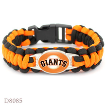 10 PCS San Francisco Giants Baseball Team Bracelet Sport Team Umbrella Braided Bracelet Fans Gift Men Women Jewelry