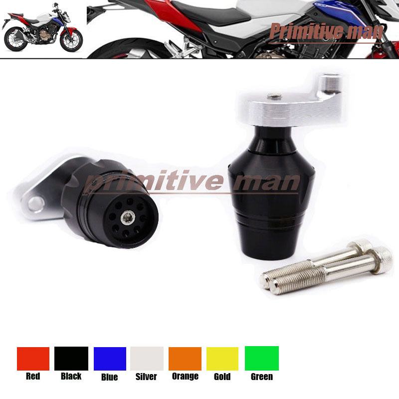 For HONDA CB500F &amp; CB500X 2013-2014 Motorcycle Accessories Frame Sliders Crash Protector Black<br><br>Aliexpress