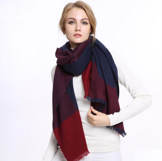 navy purecashmere scarf