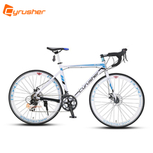 Buy Cyrusher Road Bike 700C*52cm Aluminum Alloy frame Cycling 14 speed Racing Bike US Warehouse White-blue Touring Bicycle for $490.20 in AliExpress store
