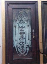 Custom design forged  wrought Iron front  doors iron doors iron entry doors h-wid11