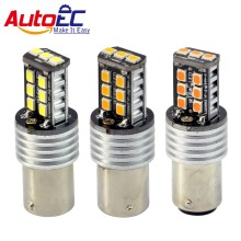 AutoEC 2pcs 15SMD 2835 LED 1156 1157 3156 3157 7440 7443 T15 Car Auto Brake Turn Signal Lights Lamp Bulb DC12V White #LF68