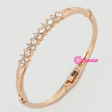 Fashion Bracelet Bangles Rhinestone Crystal Hinged Bangle Bracelet for Women Birthday Gift Jewelry