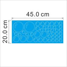 Bubbles Circle Removable Wall Wallpaper Bathroom Window Sticker Decal Home Blue