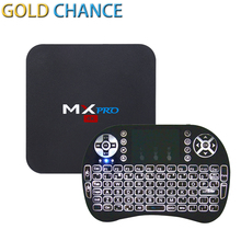 New MX Pro Android 5.1 Smart TV Box Amlogic S905 Quad Core 1G 8G+ Wireless Game Keyboard Android Remote Controller Media Player