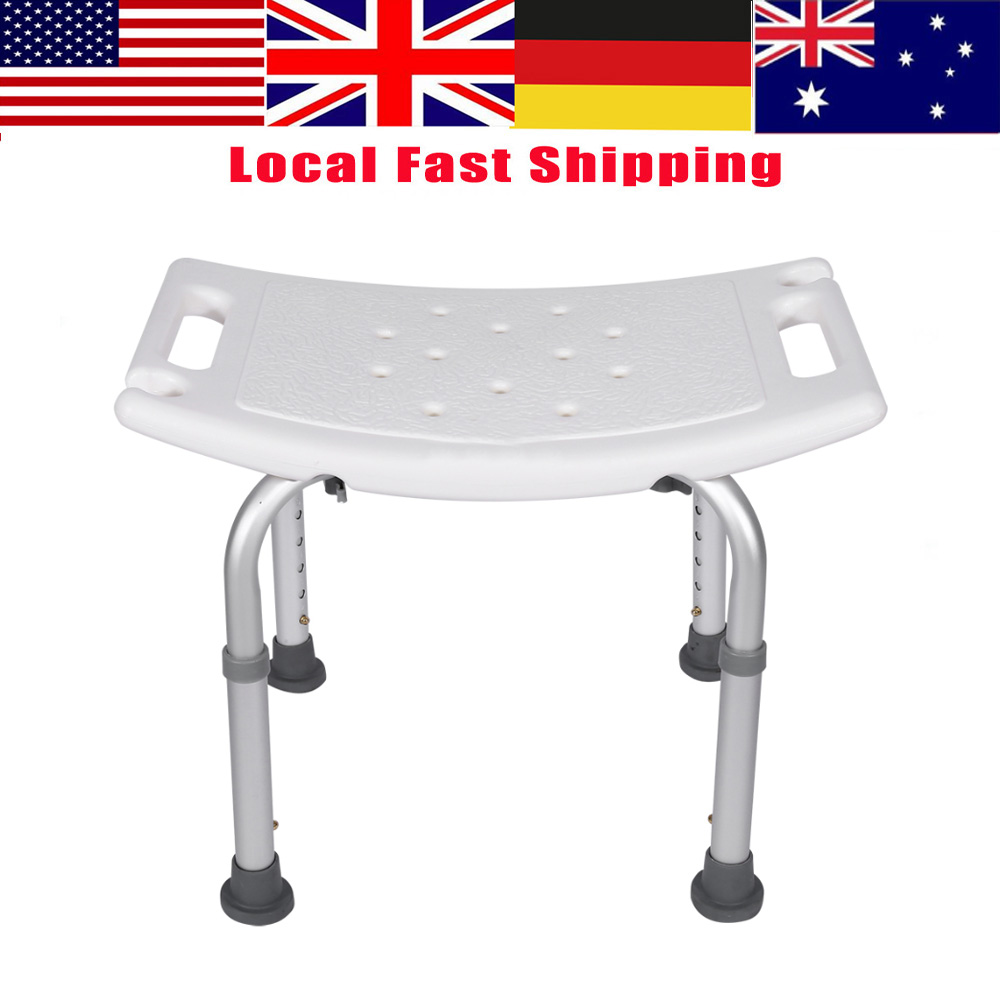 Shower Stool Rectangular Bath Aid Seat Chair Without Back Health Care Shower Seat Lightweight Adjustable Bath Tub Seat(China)