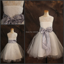 2016 In Stock Cheap Price flower girl dresses for weddings Real Sample Romantic Lace girl-dresses girls pageant dresses
