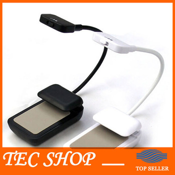 JH Newest Book Light 3 LED E-reader Clip with Flexible Read Light lamp for Ebook Ereader Kindle for Pocketbook Reading Lamp