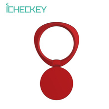 ICHECKEY 360 Degree Rotation Finger Ring Holder Metal Anti Drop Car Magnetic Bracket Phone Ring Holder For All Smartphone Device