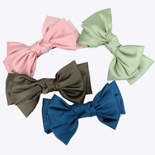 Handmade Big Layers Satin Silk Hair Bow for Women and Girls Korean Barrettes Hair Clips Wholesale Hair Decorations(China)