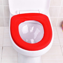 Toilet Seat Cover O-Shaped Flush Comfortable Toilet Case For Bathroom Pedestal Pan Cushion Pads Lycra Use Overcoat Toilet Case